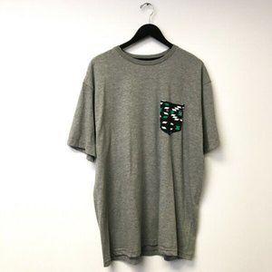 Volcom Graphic Pocket Tee Shirt Stone Sport Gray